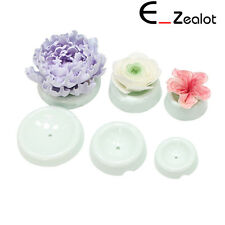 6PC Fondant Decorating Flowers Drying Forming Mold Button Shape Cake Baking Tool