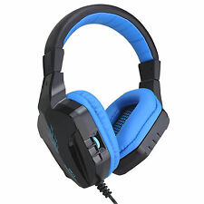 CT820 Blue 3.5mm Jack PC Computer Gaming Headphone Game Headset with Microphone