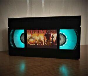 Stephen King Carrie VHS Night Light, Horror Movie, Desk Lamp, Gift, Present, TV