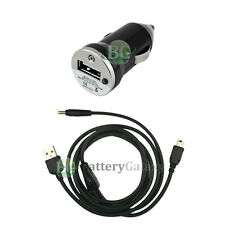 NEW Car Charger+USB Cable for Sony Playstation PSP-110 1001 1000 2000 50+SOLD