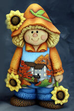 Ceramic Bisque Ready to Paint Scarecrow Boy Cider Mill Scene~No Cut Outs