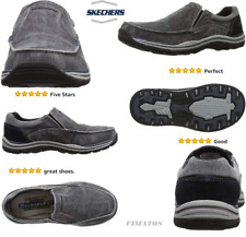 Mens Canvas Expected  Relaxed-Fit Rubber Sole Slip-On Loafer,Black,9.5 Wide US