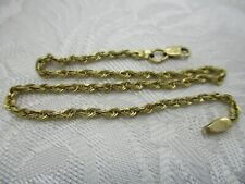 """ESTATE JEWELRY MA MICHAEL ANTHONY 14K SOLID YELLOW GOLD SPIRAL ROPE BRACELET 9"""""""