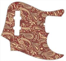J Bass Pickguard Custom Fender Graphic Graphical Guitar Pick Guard Paisley RD-CR