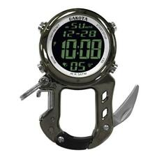 Digital Zipclip Stop Watch Light-Up Black Carabiner Knife Dakota 30972