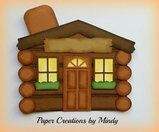 CRAFTECAFE MINDY CABIN OUTDOORS DIECUT premade paper piecing scrapbook