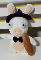 RABBIDS FRENCH HOLDING BAGUETTE SOFT TOY PLUSH TOY BEANIE 22CM TALL!