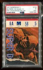 PSA Ticket Football 1971 Super Bowl V Baltimore Colts Dallas Cowboys PSA
