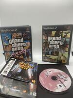 PS2 Bundle: Grand Theft Auto Vice City, GTA San Andreas, GTA 1 PS1- CIB & Tested