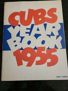 1955 Chicago Cubs Yearbook  Ernie Banks  Hank Sauer