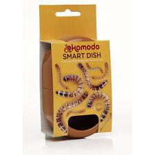 Komodo Smart Dish Reptile Gecko Bearded Dragon Mealworm Feeder Bowl