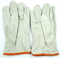 MCR Safety Cream Leather Work Gloves Lined Drivers Size 2XL XXL 3280XXL Safety