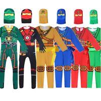 Boys LEGOO Ninjago Lloyd Kai Deluxe Costume Kids Ninja Party Fancy Dress 3-10Yrs