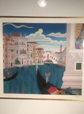 """Thomas McKnight Limited Ed. AP Serigraph 10/50 Pencil Signed Title """"Grand Canal"""""""