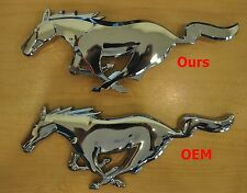 NEW! 2005-2009 Ford Mustang Front Bumper Grille Emblem Chrome Running Horse Pony