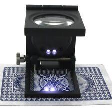 Fadenzähler Lupe 10 x Vergrößerung LED Juwelier Vergrößerungsglas Linen Tester
