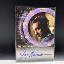 STARGATE AUTOGRAPH CARD SG-1 signed auto A8 Major Charles Kawalsky Jay Acovone