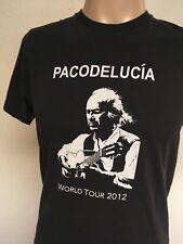 PACO de LUCIA WORLD TOUR 2012 CONCERT T-SHIRT ~ Black ~ Small ~ Flamenco