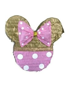 Minnie Mouse Pink and Gold Pinata