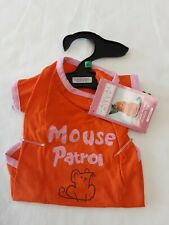 Casual Kitty Orange Cat T-Shirt W/Mouse Patrol In Pink Glittery Size M BNWT!