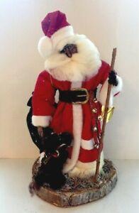 OOAK Artist Handmade Santa Claus Father Christmas Doll Primitive Folk Art Signed