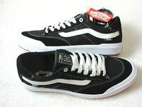 Vans Mens Elijah Berle Pro Canvas Suede Skate shoes Black True White Size 11.5