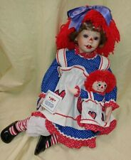 Danbury Mint Ann by Kelly RuBert porcelain doll with raggedy Ann dolly
