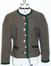 BROWN Women WOOL German Suit Winter Dress JACKET 8 10 M
