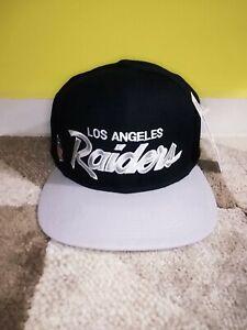 Vtg Los Angeles  Raiders Wool Script Fitted Hat Sports Specialties Script NWA