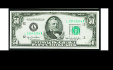 SCARCE San Francisco GREEN SEAL AND INKS Fr. 2107-L $50 1950 Federal Reserve