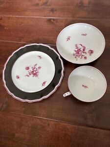 Nymphenburg 3 pcs Bowl Plate And Coffe Cup