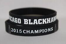 Chicago Blackhawks STANLEY CUP 2015 Champions Bracelet Wristband Banner Ring