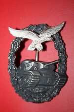 WW2 1957 GERMAN LUFTWAFFE PANZER TANK BATTLE ASSAULT QUALIFICATION BADGE BRONZE