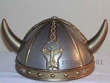 Youth Viking Helmet Silver Plastic Prop Costume Nordic Gag Child Hat