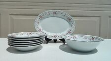Lot of 8 Pieces Dynasty Fine China Dinnerware 1 Platter - Serving Bowl - 6 Bowls