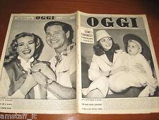 RIVISTA OGGI 1956/15=MARISA PAVAN=ANITA EKBERG=ANTHONY STEEL=LEN BASTRUP LOTUS=