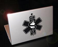 Powerbook Star of life sticker, Paramedic, Anesthetist, MD badge. Apple TV
