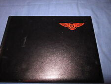 1992 BENTLEY EIGHT 8 OWNERS MANUAL OWNER'S NEW