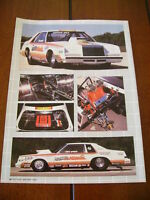 1983 CHRYSLER IMPERIAL RACE CAR  ***ORIGINAL ARTICLE***