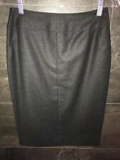 Authentic Chanel gray wool pencil skirt size 38 made in France