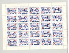 """Liberia 1955 """"Jubilee Specimen"""" o/p on Rotary 3v M/S of 25"""