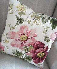 "REVERSIBLE 16"" Laura Ashley Peony Cranberry Fabric Cushion Cover"