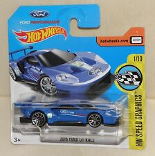 2016 FORD GT RACE Hot Wheels Modell Reihe Speed Graphics Ford Performance NEU