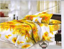 SYK Pure Cotton 5D Double Bed sheet,Bedsheets with 2 Pillow Cover (013)
