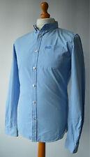 Men's Blue & white Striped Superdry London Button Down Shirt Size M, Medium.