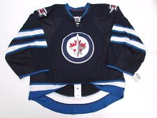 WINNIPEG JETS AUTHENTIC HOME TEAM ISSUED REEBOK EDGE 2.0 JERSEY GOALIE CUT 60