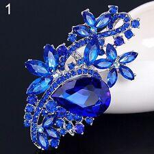 ELEGANT  BLUE  FLOWER   crystal/ rhinestone  brooch fashion jewelry nA 12