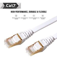 Brand New White Category 7 Cat7 RJ45 LAN Network Ethernet Patch Cable Cord 50ft