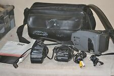JVC Compact VHSC Camcorder Video Camera GR-AX25U W/Case/Owners Manual/2 Chargers