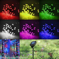 Solar Power LED Bulbs Fairy Party String Lights Ornament  Garden Xmas Decor Lamp